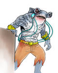 King Shark Suicide Squad movie concept