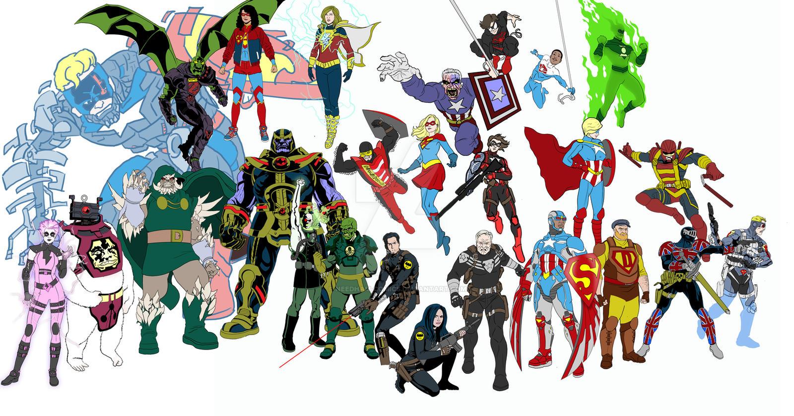 List comics online Viewcomic reading comics online for Amalgam comics characters gallery