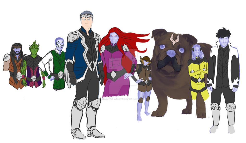 Inhuman Royal Family Wip by Needham-Comics