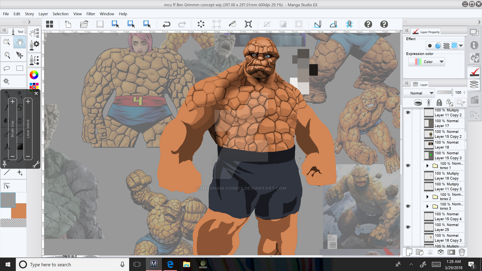 Mcu FF's Ben Grimm/the Thing Concept Wip By Needham-Comics