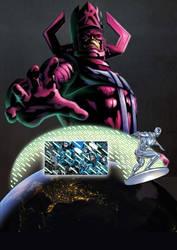 MCU Galactus creats the FF through Silver Surfer