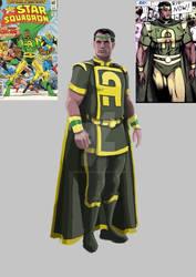 wip Needham Comics' AmazingMan Legends concept art