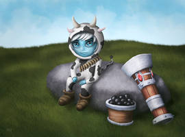Tristana | Cow Costume by FabooGuy