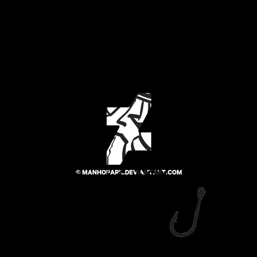 DPFishing Logo + Graphic [BW] by ManHoPark