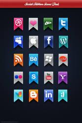 Social Ribbon Icons by Beneyto93