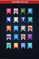 Social Ribbon Icons