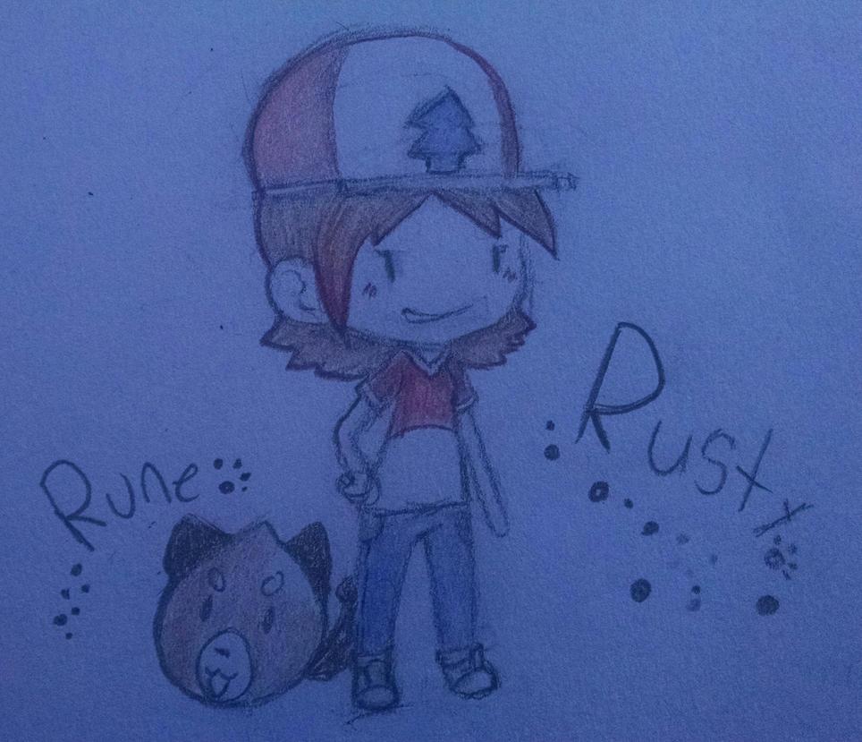 Chibi Rusty and Rune by PastelKatt