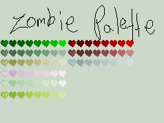 Palette 1- Zombie by Boom-pixels