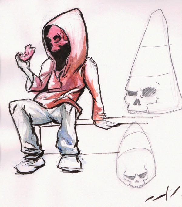 Skull Sketch by bandit-revolver