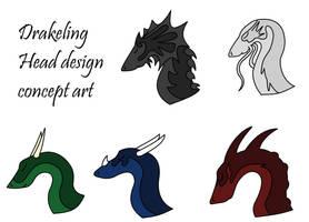 Drakelings Head Design by Rjalker