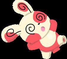 Pokemon - Spinda by PirateGod3D2Y