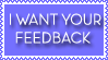 Blue Feedback Stamp by Ra1nDanc3r