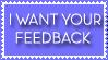 Blue Feedback Stamp by Ra1nDanc3r