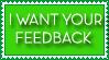Green Feedback Stamp2 by Ra1nDanc3r