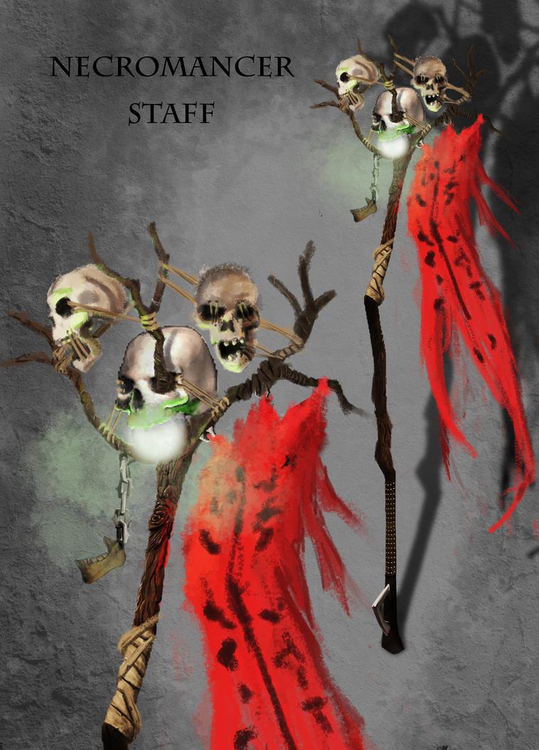 Necromance Staff by Leon-Raven