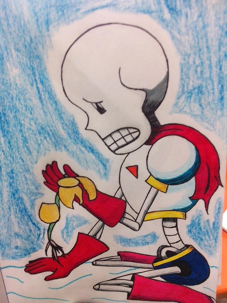 Papyrus and Flowey by CandyVonBitter