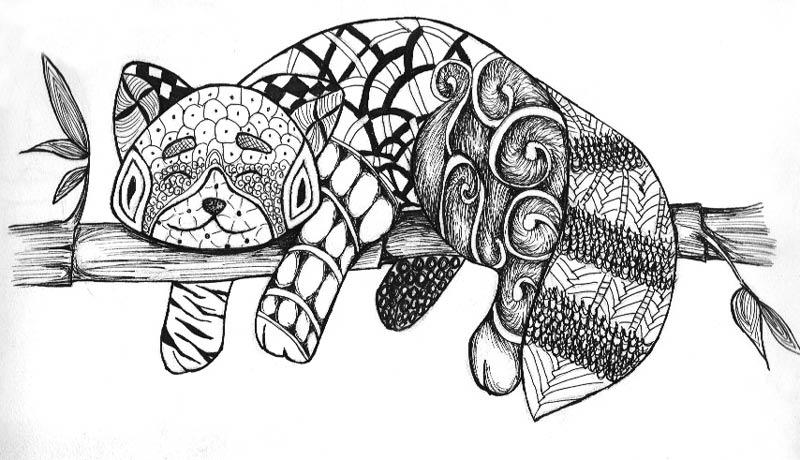 Zentangle by KhuceZentangles Butterfly