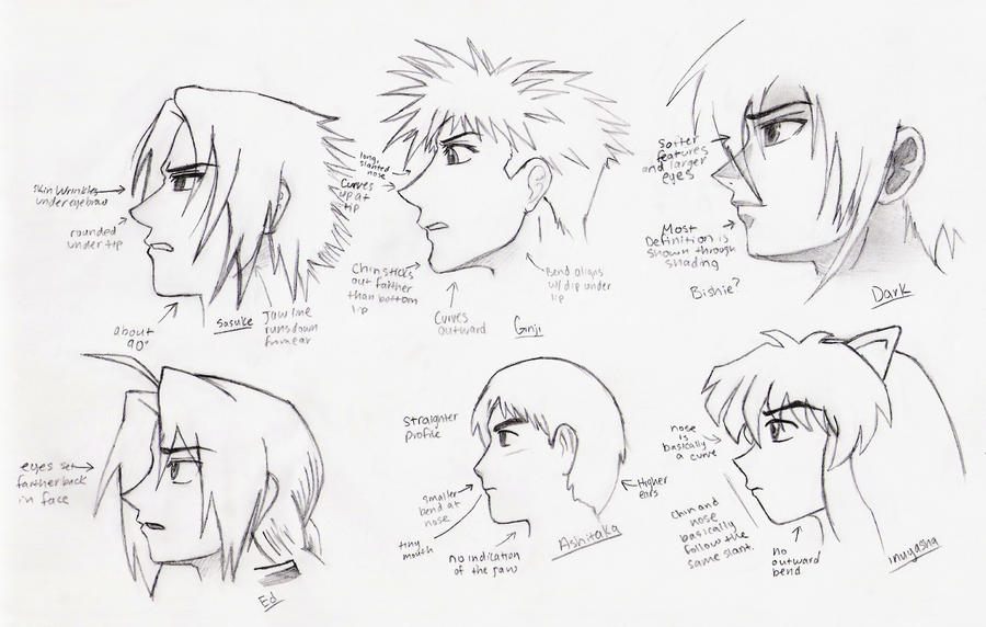 Male Profile Study By Delightsjd On Deviantart
