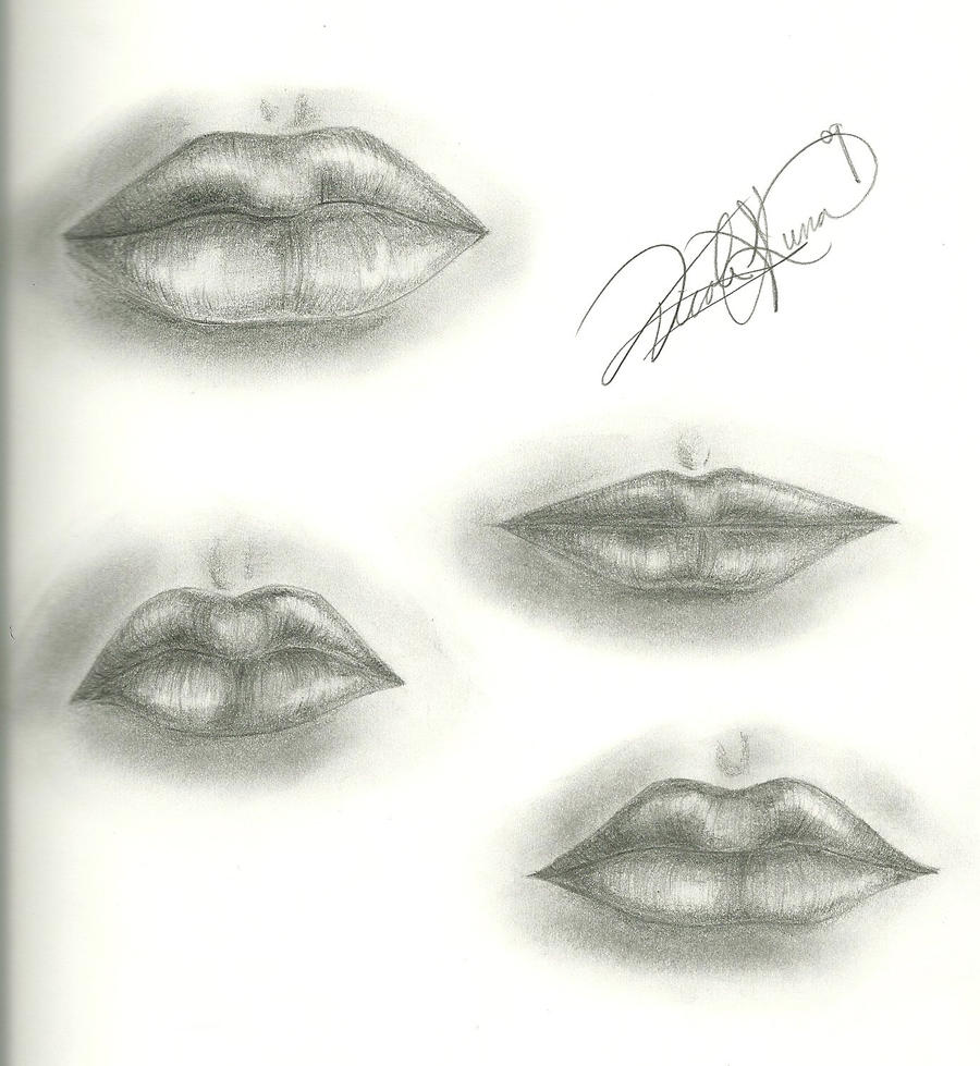Lips Study by DelightsJD