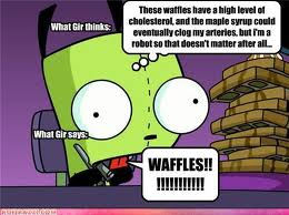 Gir and waffles by Billiejoesahero