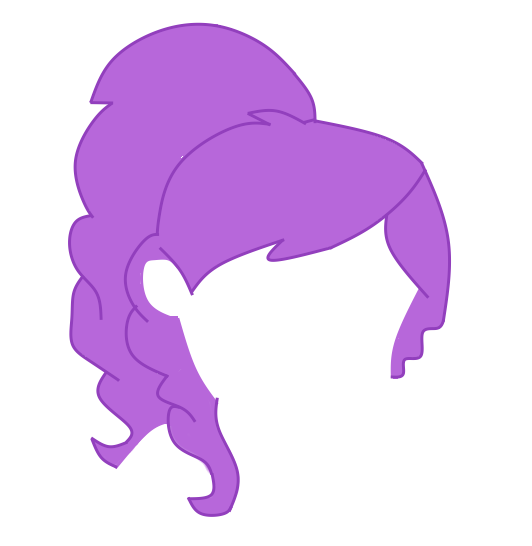 EQG My Hair Base Style MLP Shadowbolts Base Only By