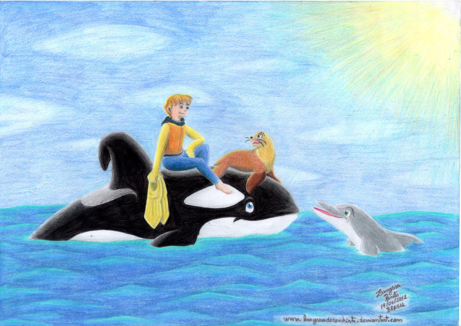 free willy cartoon series fanart on freewillyfans