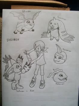 some Digimon sketches