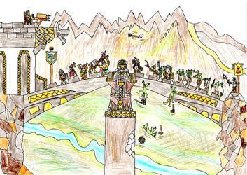 Dwarf bridge battle by Ben-The-fallen