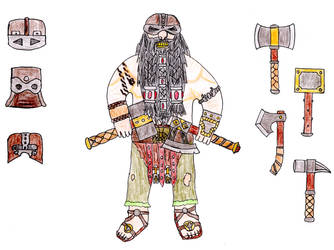 Dwarf Berserker by Ben-The-fallen