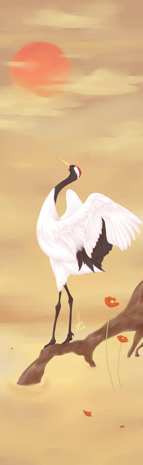 Dancing Crane by Al-Shira-Aohoshi