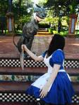 Alice Madness Returns Cosplay - Cheshire and Alice by LiryoVioleta