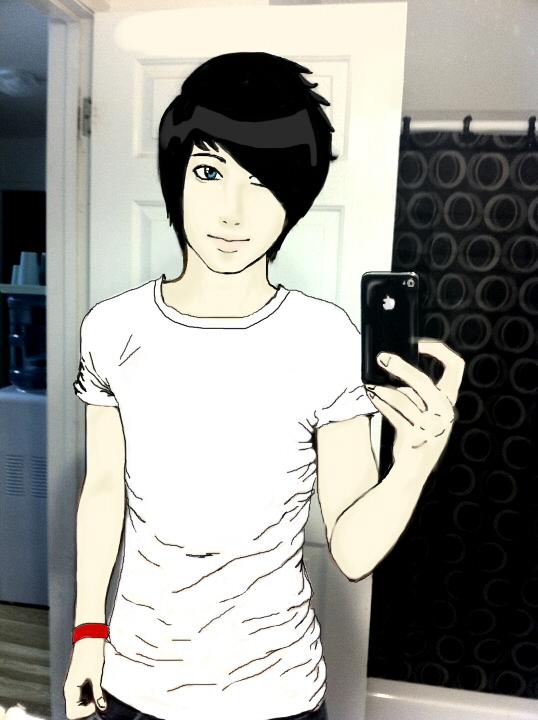 Anime Guy In The Bathroom By A Random Pause On Deviantart
