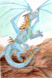 Blue dragon by Sheba987