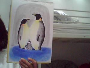 Dibujo 8- pinguinos