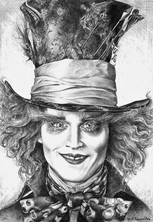 Johnny Depp Mad Hatter Drawing The Mad Hatter by Blaz...