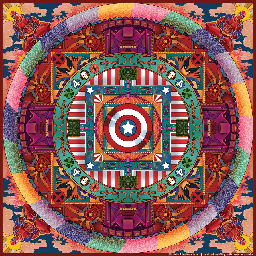 Superhero Mandala by BlazeCK-PL