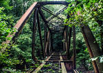 Abandoned train bridge
