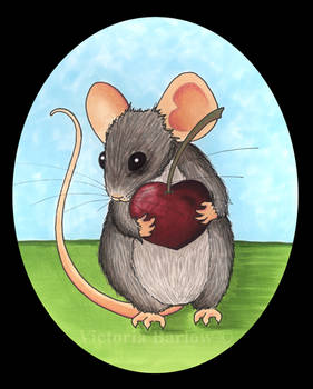 Mouse with a Cherry Heart