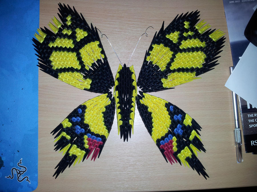 3D Origami Butterfly Papilio Machaon By TheGenov