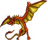 Dragón flamigero by Alexxxhunt