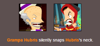 Hubris Fuckin Kills Himself by MarvelousDani