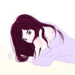Sleepy girl by Anna-Rise
