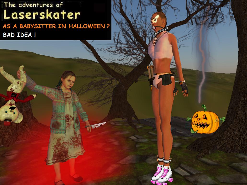 As a Babysitter in Halloween by Laserskater