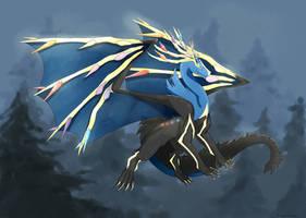 Dragonized pokemon: Xerneas (Speedpaint) by hikary-starrysky