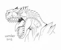 Inktober day 25: Tigrex by hikary-starrysky