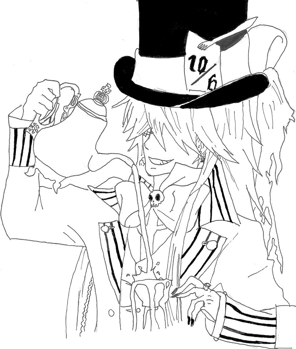 anime ciel coloring coloring pages
