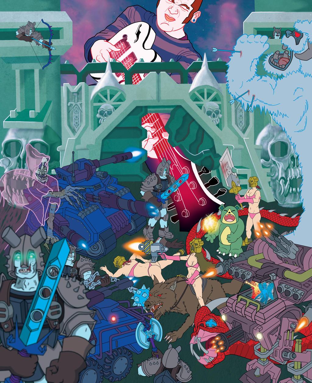 Derek Evry Fantasy Rock Poster by maxevry