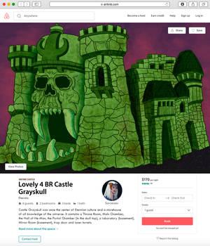 Castle Grayskull Airbnb print