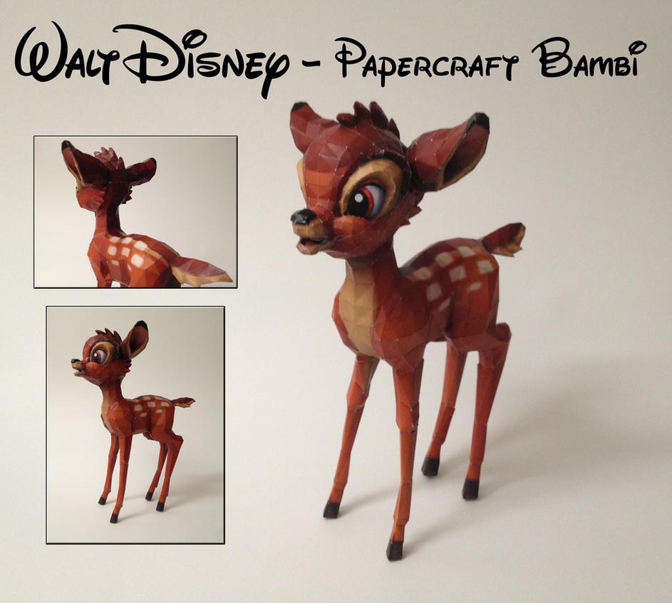 Walt Disney - Bambi Papercraft by wolfose