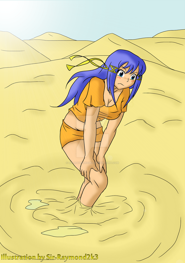 Lina in Desert Quicksand3 by Sir-Raymond2k3